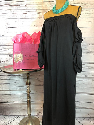 Long Black Off the Shoulder Dress