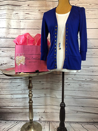 Blue Cardigan Sweater