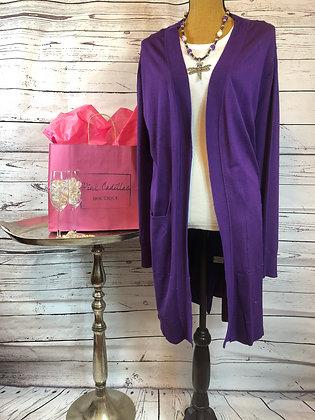 Long Purple Sweater