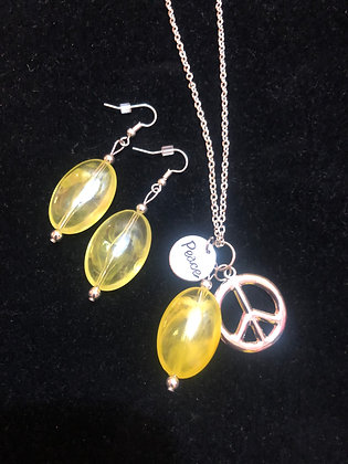 Yellow Peace Charm Set