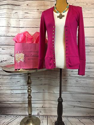 Pink Cardian Sweater
