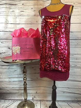 Pink Sequin Coctail Dress