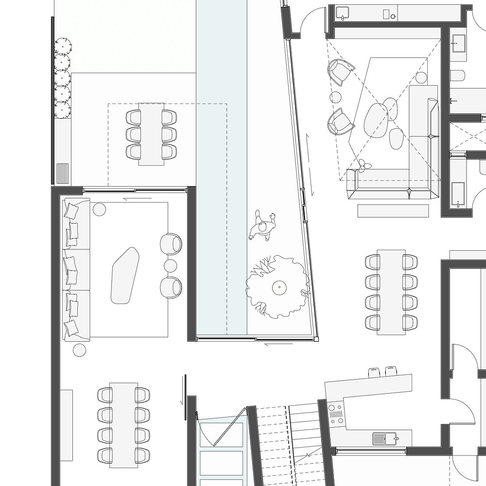 Open plan residential project