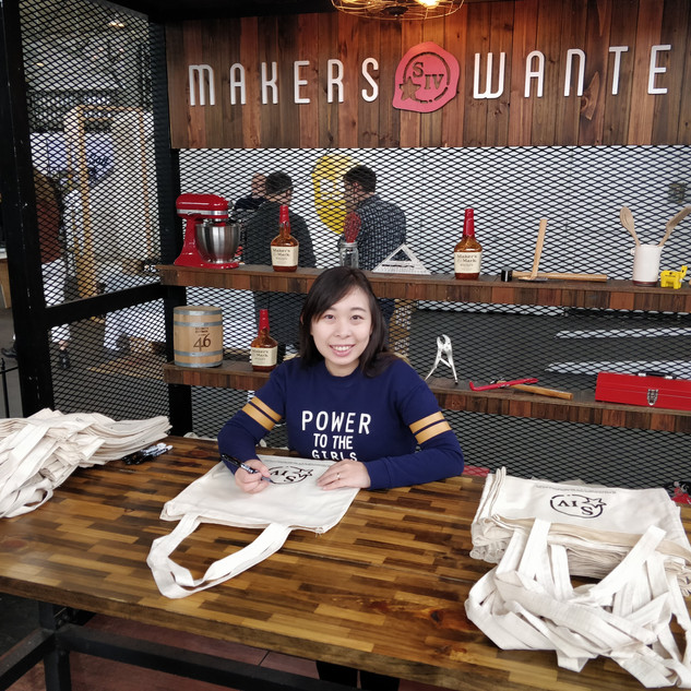 Totebag Onsite Live Calligraphy for Maker's Mark