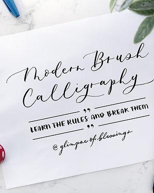 Online calligraphy class on skillshare
