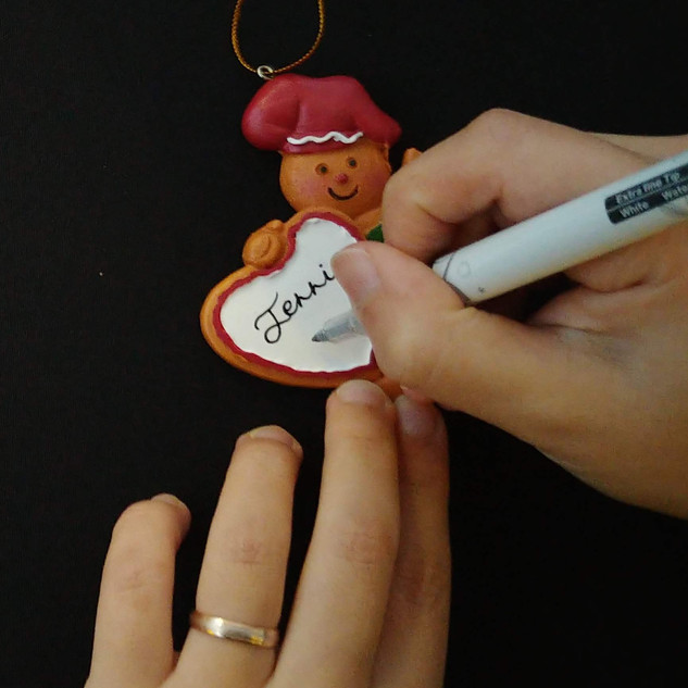 Christmas Ornament Personalization for Charity