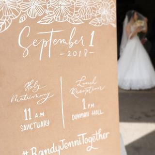 Wedding Calligraphy Signage