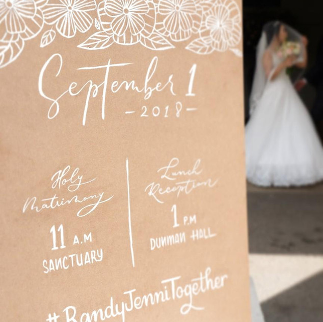 Wedding Calligraphy Signage