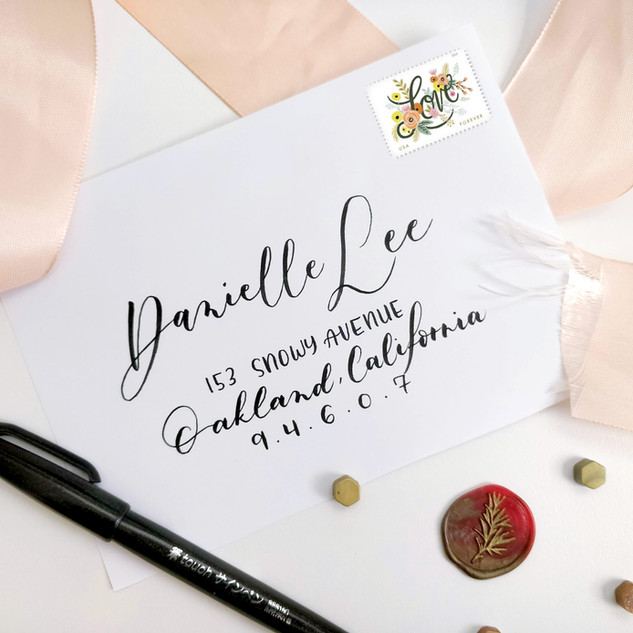 Modern Calligraphy envelope addressing