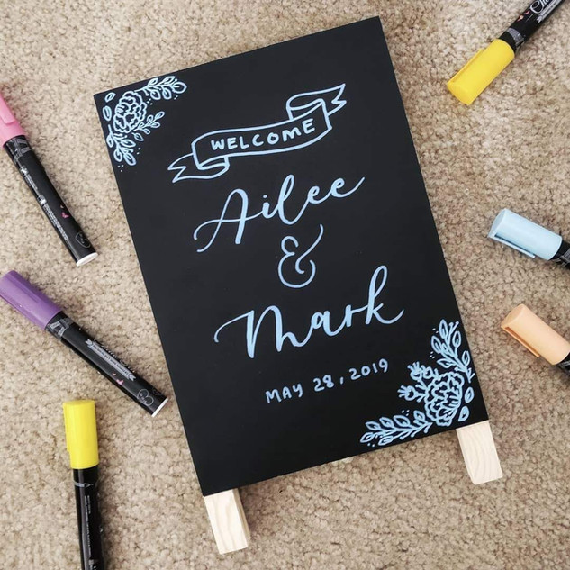 Mini Chalkboard Welcome Sign