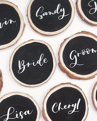 Handwritten calligraphy for wedding