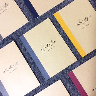 Personalized notebook with names