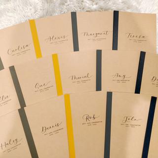 Muji Notebook Customization with Names