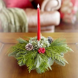 Gift Centerpiece with LED Candle