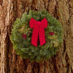"22"" Mixed Evergreen Wreath"