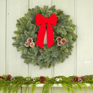 "22"" Noble Fir Wreath (Item W2)"