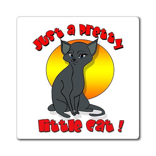 Pretty Little Grey Cat Magnets