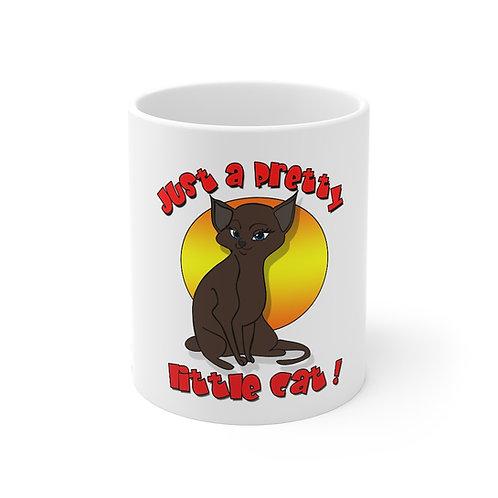 Pretty Little Brown Cat Mug 11oz