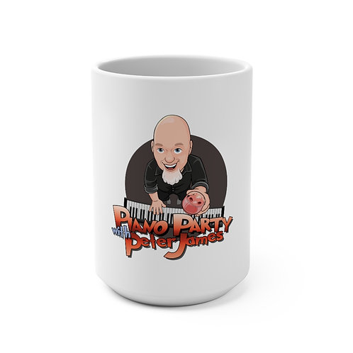 Piano Party with Peter James Front Mug 15oz
