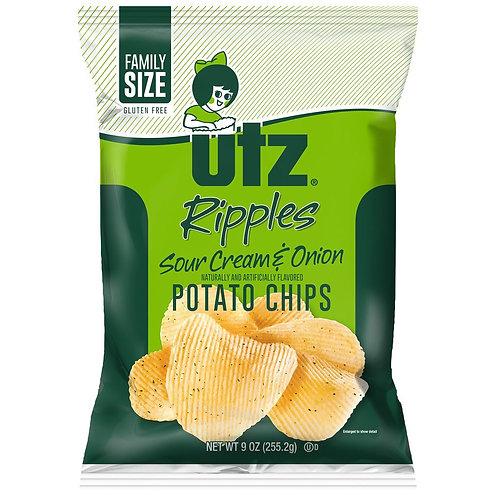 7oz Utz Sour Cream & Onion Potato Chips