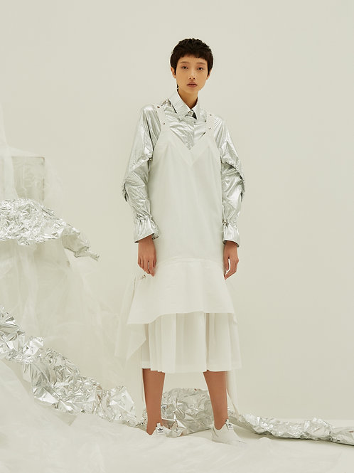 Mesh contrast dress