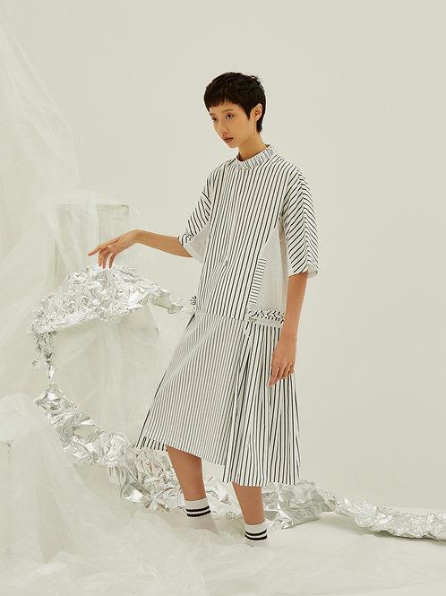 Boxy pleated dress