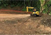 Turangi intake site - storage tank earth