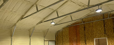 Steel Building Spray Foam Insulation Comfortable Working environment, Noise Reduction, Employee Safety   Steel building spray foam insulation applied to the interior or exterior of a steel building is a great solution to improve the atmosphere of your shop or steel structure. The foam will eliminate leaks as well as prevent corrosion