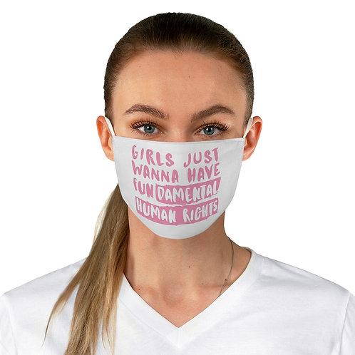Girls Fundamental Human Rights Fabric Face Mask