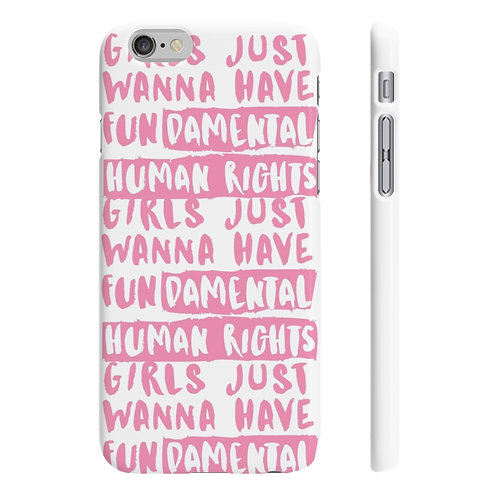 Girls Just Want Human Rights Slim Wpaps Phone Case