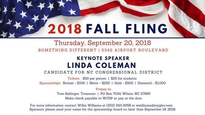 WCDP 2018 Fall Fling