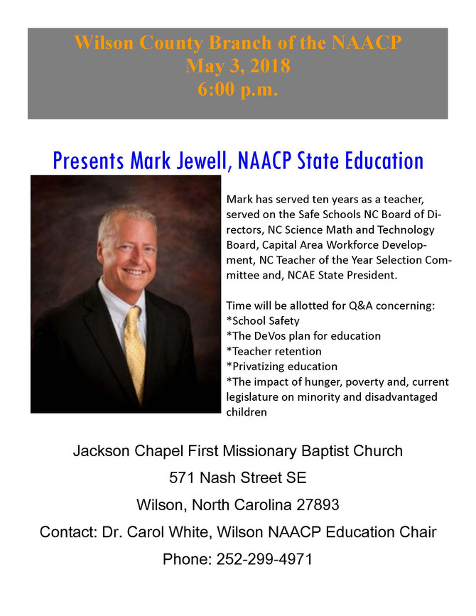 NAACP Presents Mark Jewell