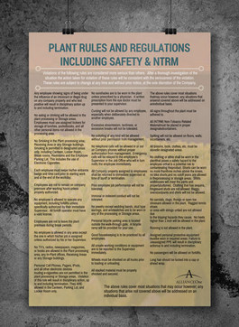 Plant Rules Poster