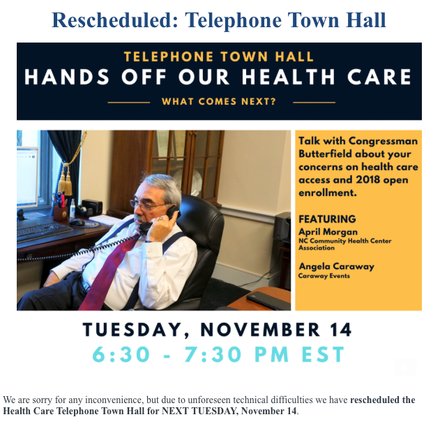 healthcare town hall meeting with G K Butterfield