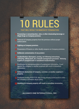 10 Rules Poster
