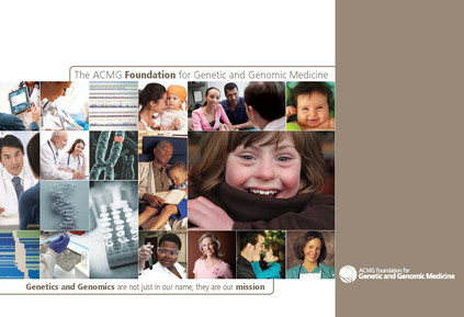 ACMG Foundation for Genetic and Genomic Medicine Promotional Brochure