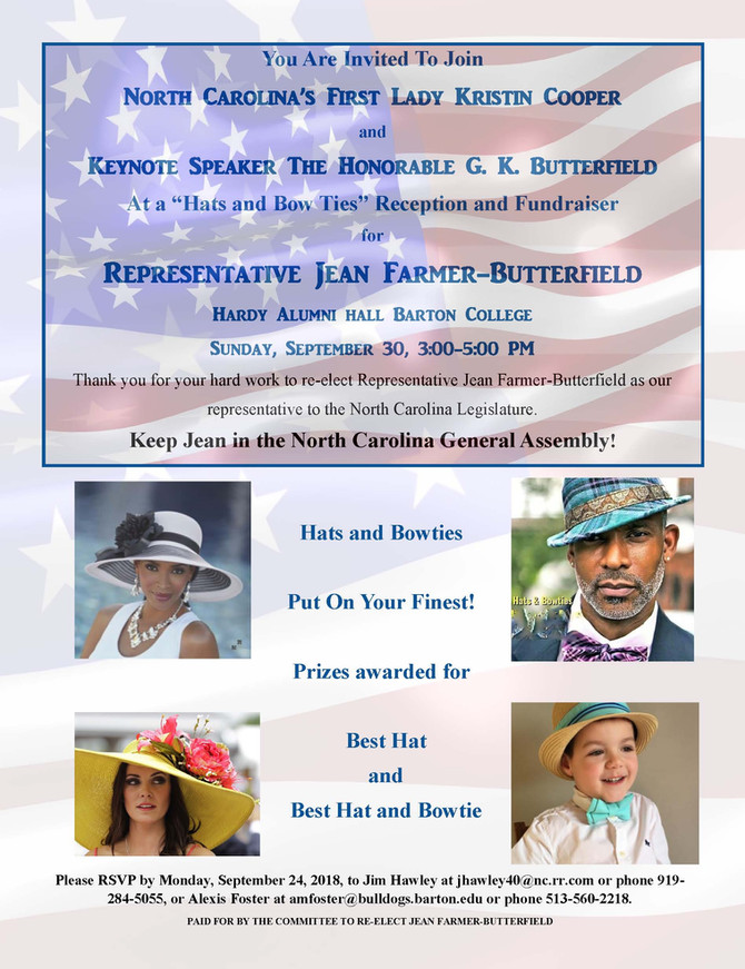 Hats and Bow Ties: A Fundraiser for Jean Farmer-Butterfield