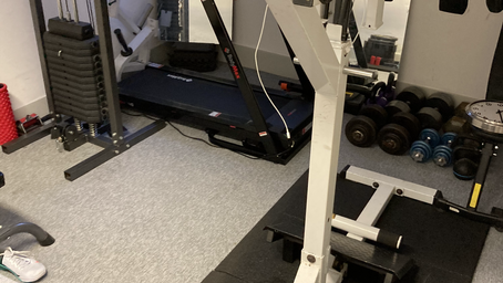 a clients very own personal gym cleaned today