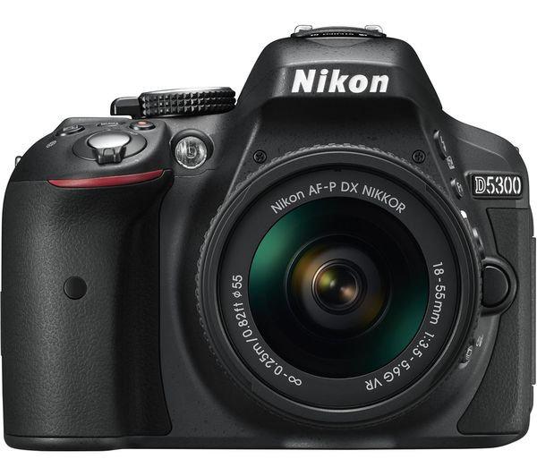NIKON D5300 DSLR Camera with AF-P DX 18-55mm f/3.5-5.6G VR Lens Kit