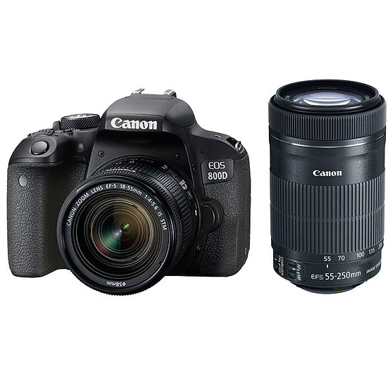 CANON EOS 800D DSLR Camera with EF-S 18-55mm IS STM + EF-S 55-250mm IS STM