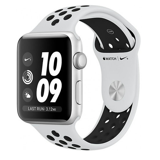 Apple Watch Nike+ Series 3 42mm Silver with Pure Platinum/Black Nike Sport Band