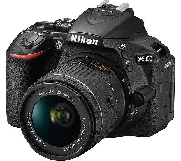 NIKON D5600 DSLR Camera with AF-P DX Nikkor 18-55mm f/3.5-5.6G VR