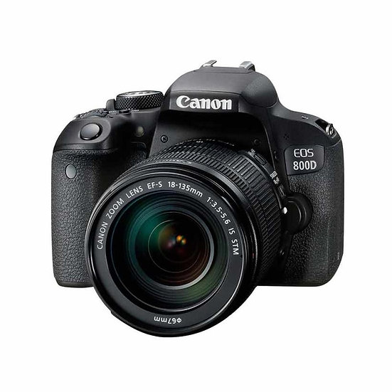 CANON EOS 800D DSLR Camerawith EF-S 18-135mm f/3.5-5.6 IS STM Lens Kit