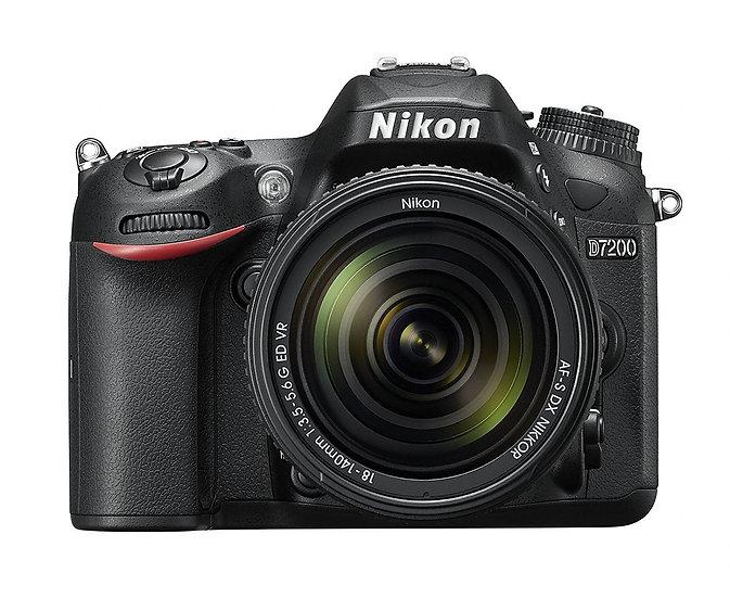 NIKON D7200 DSLR Camera with AF-S DX NIKKOR 18-140mm f/3.5-5.6G ED VR Lens