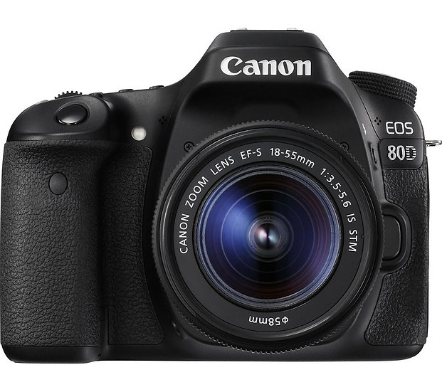 CANON EOS 80D DSLR Camera with 18-55mm f/3.5-5.6 IS STM Lens