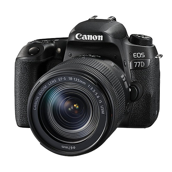 CANON EOS 77D DSLR Camera with EF-S 18-135mm f/3.5-5.6 IS Nano USM Lens