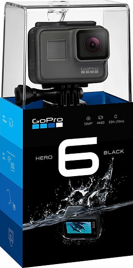 GoPro HERO6 4K Ultra HD Action Camera + Rechargeable Battery - Black