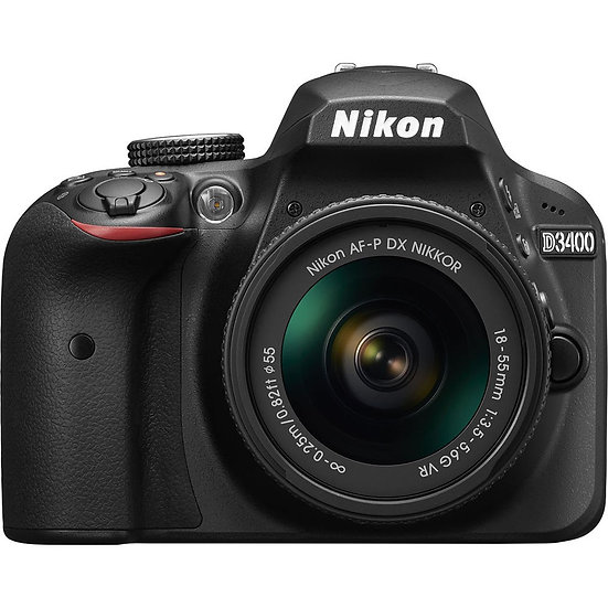 NIKON D3400 Digital SLR Camera with AF-P 18-55mm f/3.5-5.6G VR Lens (Kit Box)