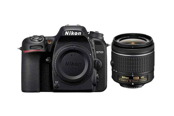 NIKON D7500 DSLR Camera with AF-P DX 18-55mm f/3.5-5.6G VR Lens