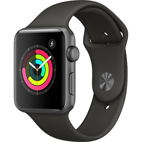 Apple Watch Series 3 42mm Space Grey with Grey Sport Band